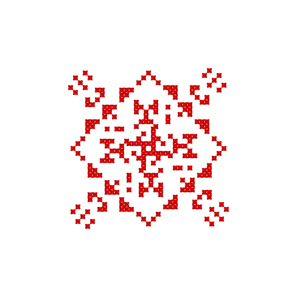 Текстовий слов'янський орнамент: Марія