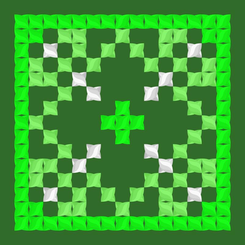 Текстовий слов'янський орнамент: Ліс