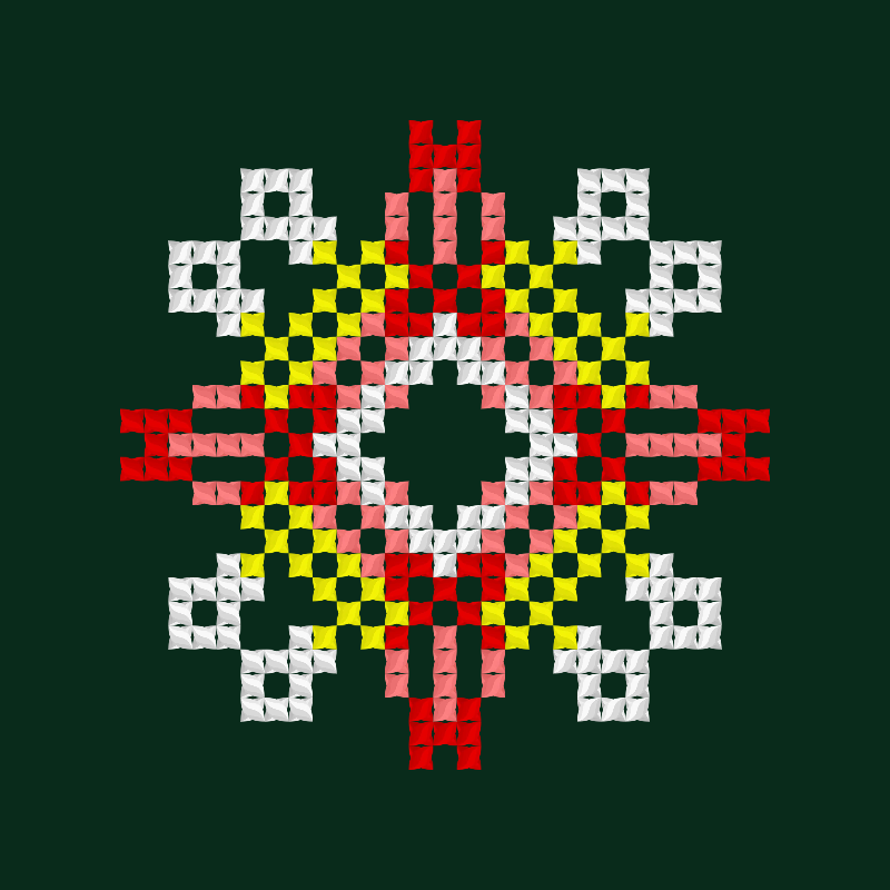 Текстовий слов'янський орнамент: Червень