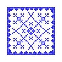 Текстовый украинский орнамент: орнамент у квадраті