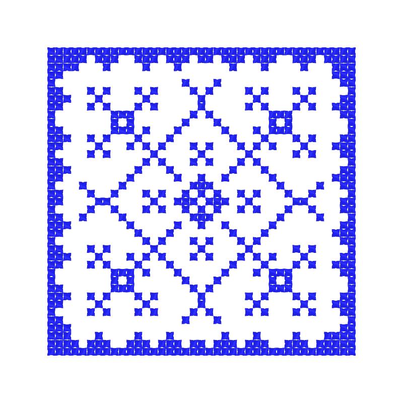 Текстовий слов'янський орнамент: орнамент у квадраті