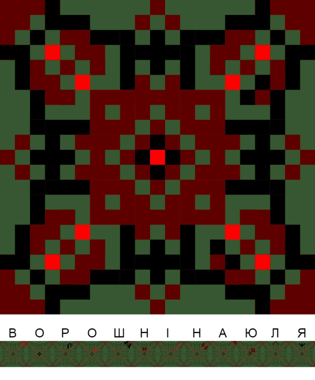Текстовий слов'янський орнамент: ВОРОШНІНА ЮЛЯ