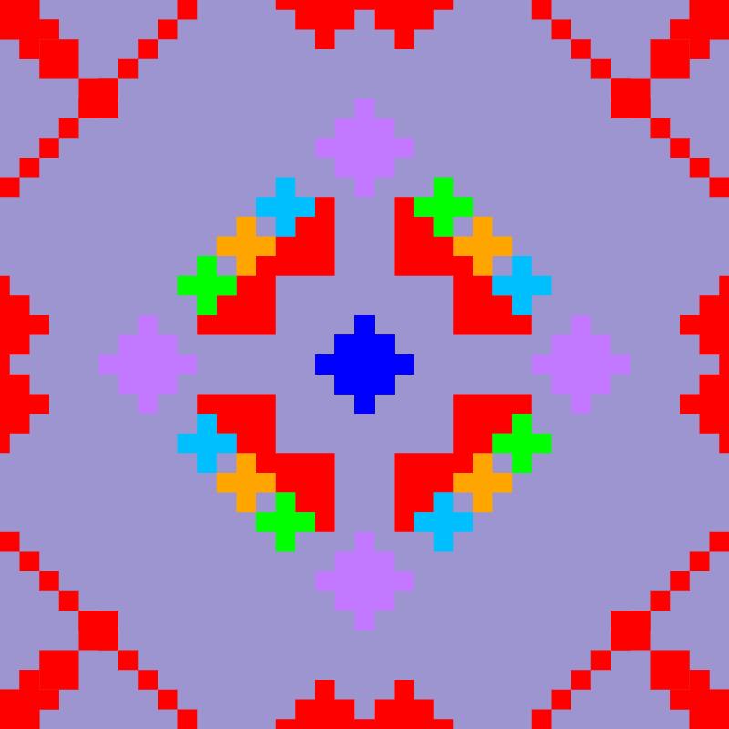 Текстовий слов'янський орнамент: квіти
