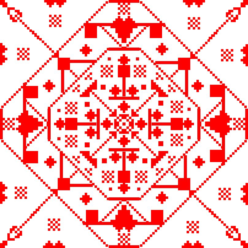 Текстовий слов'янський орнамент: Симетрія