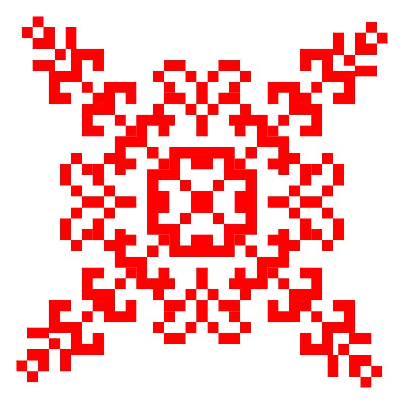 Текстовий слов'янський орнамент: візерунок