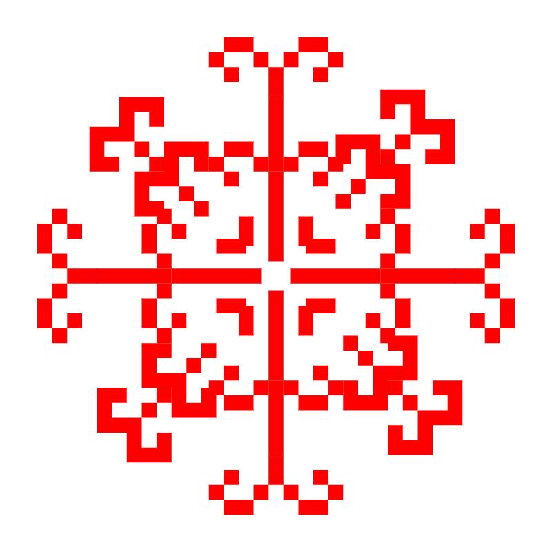 Текстовий слов'янський орнамент: папугай