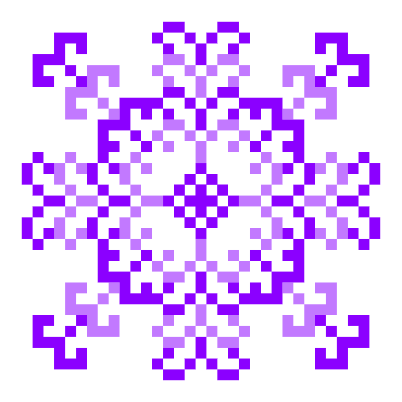 Текстовий слов'янський орнамент: фіалка