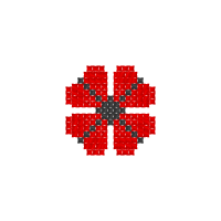 Текстовый украинский орнамент: мак