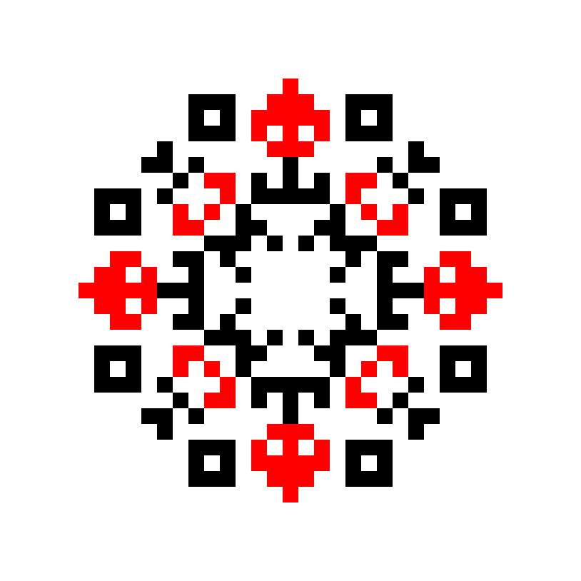 Текстовий слов'янський орнамент: мосейко