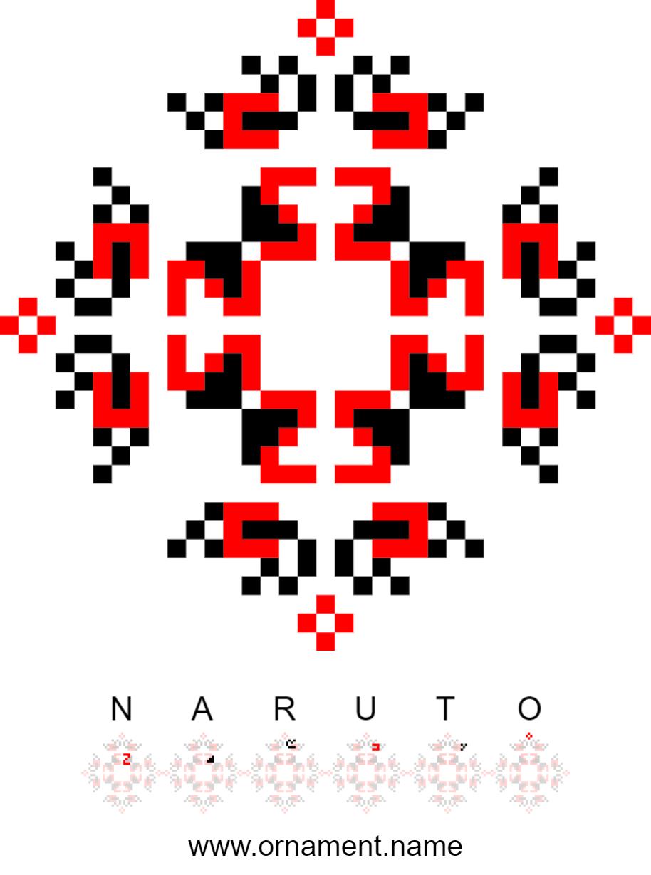 Текстовий слов'янський орнамент: Naruto