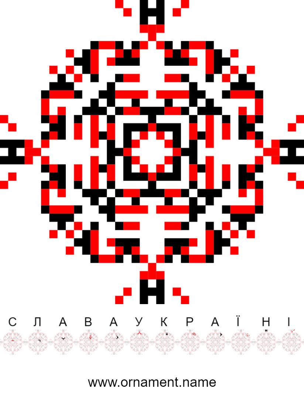 Текстовий слов'янський орнамент: Слава Україні